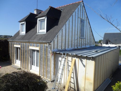 Refurbishment of the external thermal insulation (ETICS)