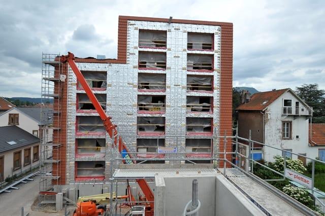 SKYTECH PRO XL : ITE non combustible sur une résidence de 7 étages